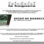 """Presentación del libro """"Desde mi Barbecho II"""" - Colecta para Gotita Roja - 23 abril 2019"""
